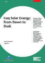 Iraq solar energy: from dawn to dusk