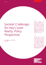 Societal challenges for Iraq's lived reality